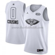 New Orleans Pelicans DeMarcus Cousins 0# Vit 2018 All Star Game NBA Basketlinne..